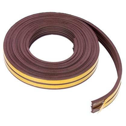 Уплотнитель для окон коричневый Е-профиль 9х4 мм х 6 м