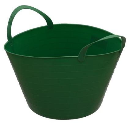 Купить Ведро с ручками гибкое зелёное 14 л мягкий пластик дешевле