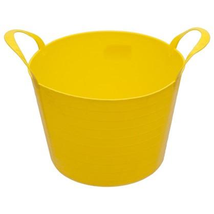 Купить Ведро с ручками гибкое жёлтое 14 л мягкий пластик дешевле