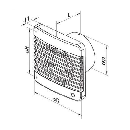Купить Вентилятор осевой Вентс 125 М Силента D125 мм 9.1 Вт дешевле