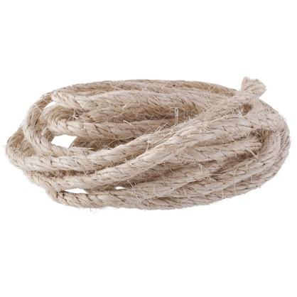 Веревка крученая 10 мм сизаль цвет бежевый