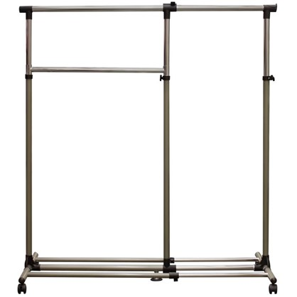 Купить Вешалка напольная 900-1340х540х1170-2000 мм металл цвет хром недорого