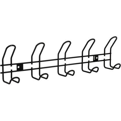 Вешалка настенная Sheffilton SHT-WH14-5 5 крючков цвет черный муар
