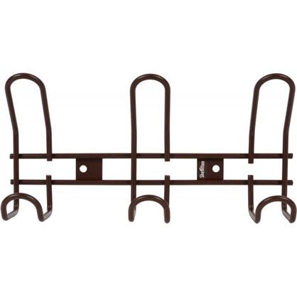 Купить Вешалка настенная SHT-WH14-3 26.5х13 см металл цвет коричневый муар дешевле
