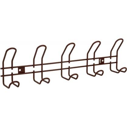Вешалка настенная SHT-WH14-5 48.5х13 см металл цвет коричневый муар