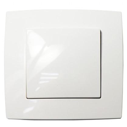 Выключатель 1 клавиша цвет белый
