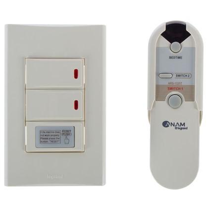 Выключатель Anam Zunis 2 клавиши дистанционное управление с подсветкой цвет бежевый
