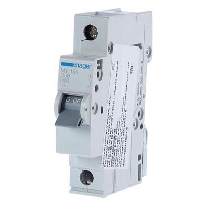 Купить Автоматический выключатель Hager 1 полюс 50 A дешевле