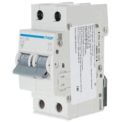 Купить Автоматический выключатель Hager 2 полюса 16 A дешевле