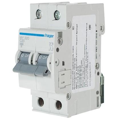 Автоматический выключатель Hager 2 полюса 20 A