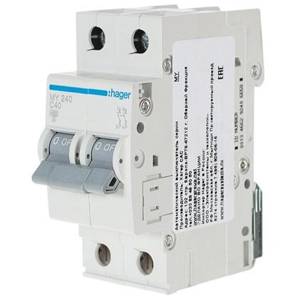 Автоматический выключатель Hager 2 полюса 40 A