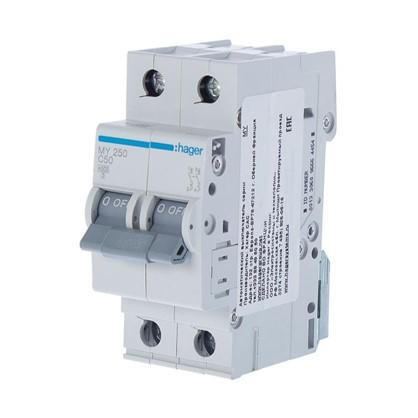 Автоматический выключатель Hager 2 полюса 50 A