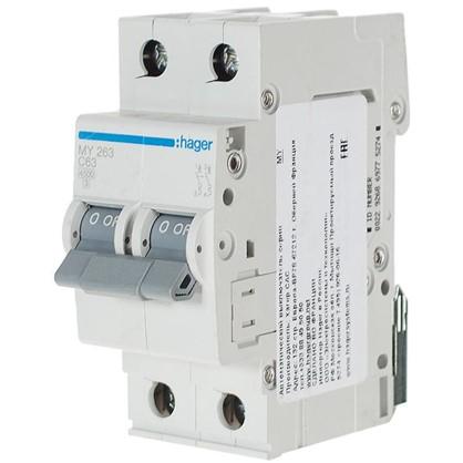 Автоматический выключатель Hager 2 полюса 63 A