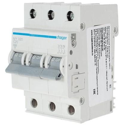 Автоматический выключатель Hager 3 полюса 20 A