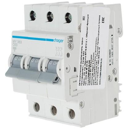 Автоматический выключатель Hager 3 полюса 63 A