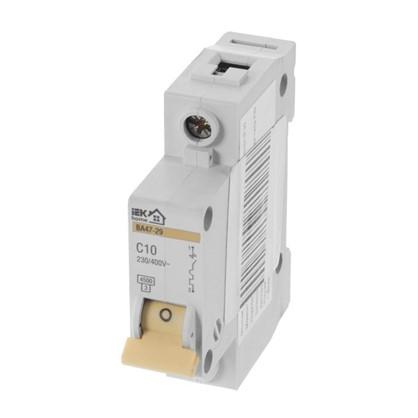 Купить Автоматический выключатель IEK Home В А47-29 1 полюс 10 А дешевле