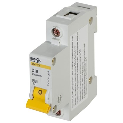 Купить Автоматический выключатель IEK Home В А47-29 1 полюс 16 А дешевле