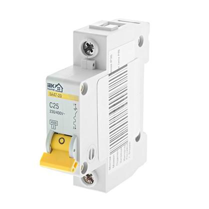 Автоматический выключатель IEK Home В А47-29 1 полюс 25 А