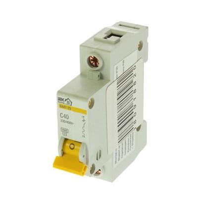 Автоматический выключатель IEK Home В А47-29 1 полюс 40 А