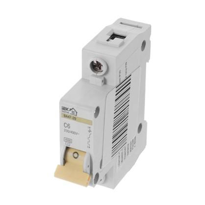Автоматический выключатель IEK Home В А47-29 1 полюс 6 А