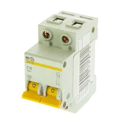 Купить Автоматический выключатель IEK Home В А47-29 2 полюса 16 А дешевле