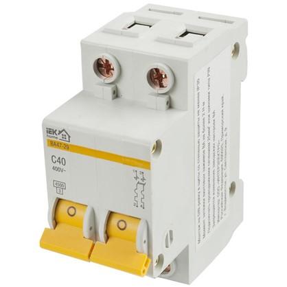 Купить Автоматический выключатель IEK Home В А47-29 2 полюса 40 А дешевле