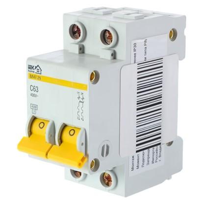 Купить Автоматический выключатель IEK Home В А47-29 2 полюса 63 А дешевле