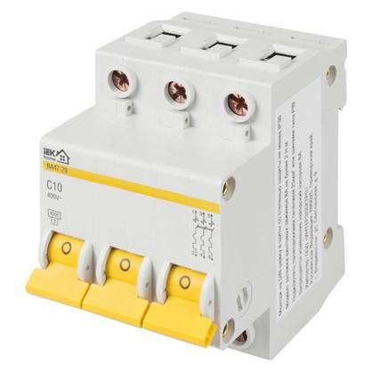 Автоматический выключатель IEK Home В А47-29 3 полюса 10 А