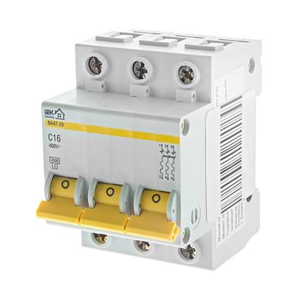 Купить Автоматический выключатель IEK Home В А47-29 3 полюса 16 А дешевле