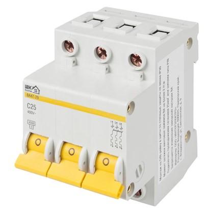 Купить Автоматический выключатель IEK Home В А47-29 3 полюса 25 А дешевле