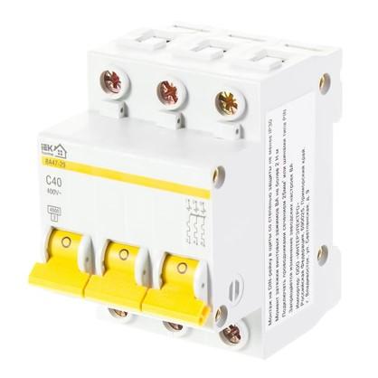 Купить Автоматический выключатель IEK Home В А47-29 3 полюса 40 А дешевле