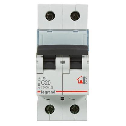 Автоматический выключатель Legrand TX3 2 полюса 20 A