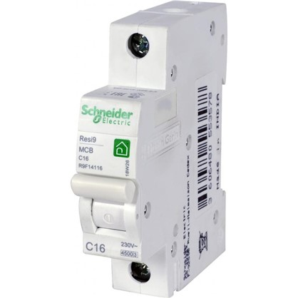 Купить Автоматический выключатель Schneider Electric Resi9 1 полюс 16 A дешевле