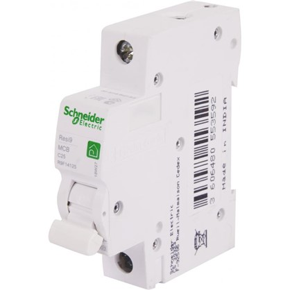 Купить Автоматический выключатель Schneider Electric Resi9 1 полюс 25 A дешевле