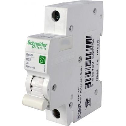 Купить Автоматический выключатель Schneider Electric Resi9 1 полюс 6 A дешевле