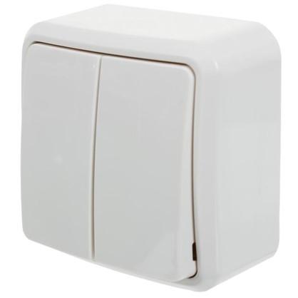 Купить Выключатель двойной цвет белый дешевле