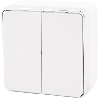 Выключатель Gallant 2 клавиши цвет белый