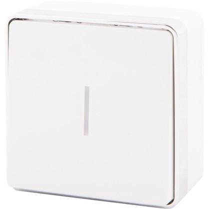 Купить Выключатель Gallant с подсветкой 1 клавиша цвет белый дешевле