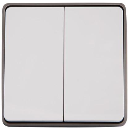 Купить Выключатель Gallant влагозащищённый 2 клавиши цвет белый дешевле