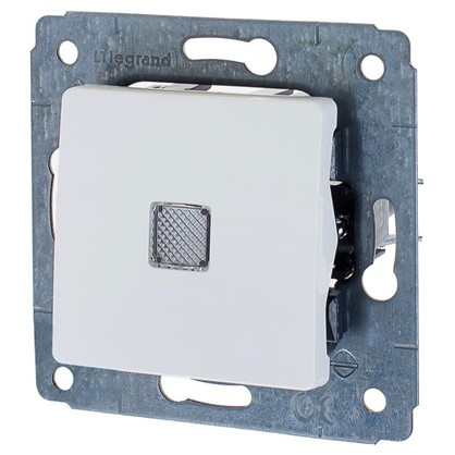 Выключатель Legrand Cariva 1 клавиша с подсветкой цвет белый