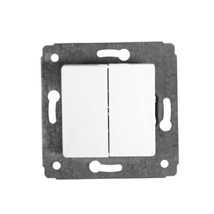 Выключатель Legrand Cariva 2 клавиши цвет белый