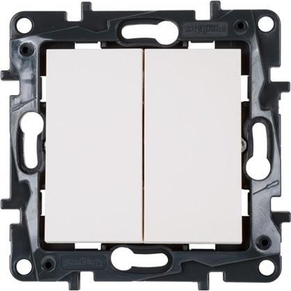 Выключатель Legrand Structura 2 клавиши цвет белый