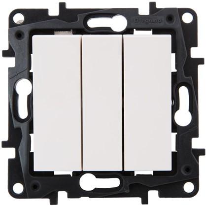 Выключатель Legrand Structura 3 клавиши цвет белый