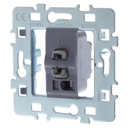 Выключатель Lexman Виктория 1 клавиша металл/пластик