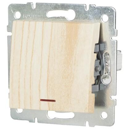 Выключатель Lexman Виктория 1 клавиша с подсветкой цвет белый матовый