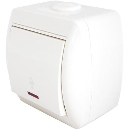 Купить Выключатель Lezard Nata проходной с подсветкой цQ79:Q94ремовый дешевле