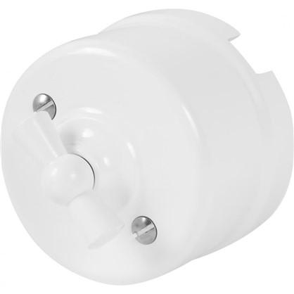 Выключатель на два положения цвет белый