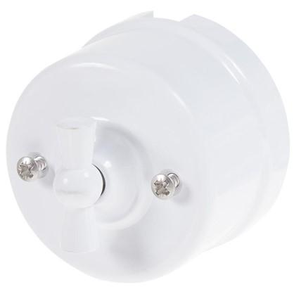 Купить Выключатель на одно положение цвет белый