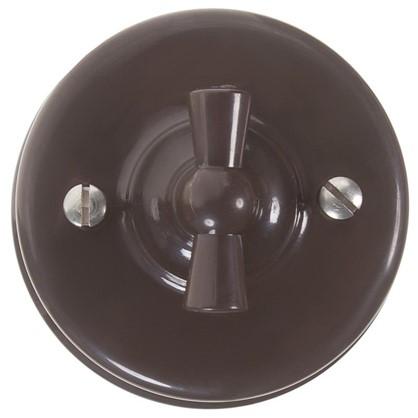 Выключатель на одно положение цвет коричневый
