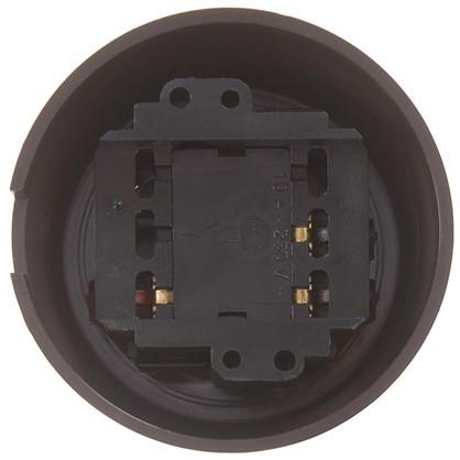 Купить Выключатель на одно положение цвет коричневый недорого